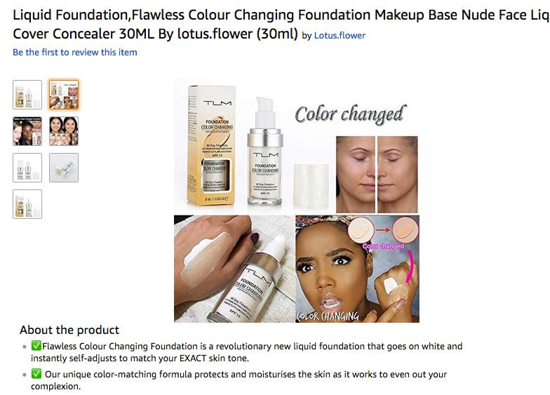 Meitsin naamalla mainostetaan random-meikkivoidetta