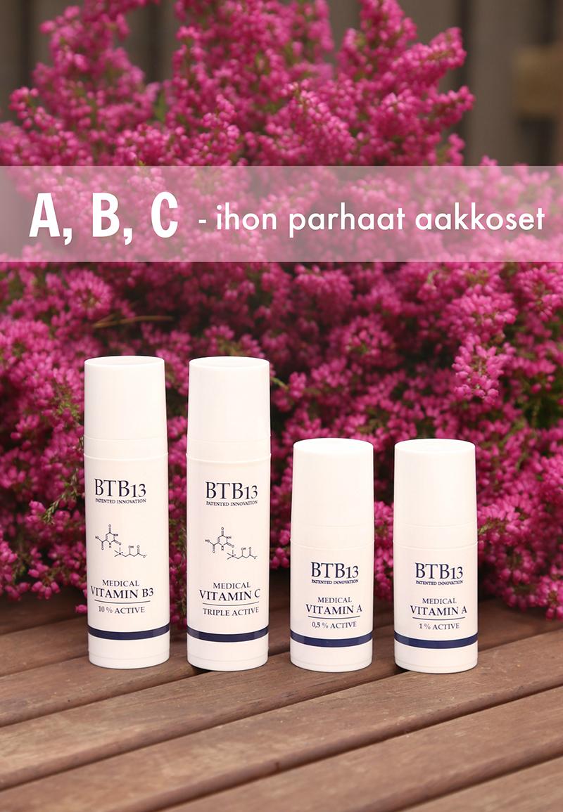A, B, C – ihovitamiinien aakkoset