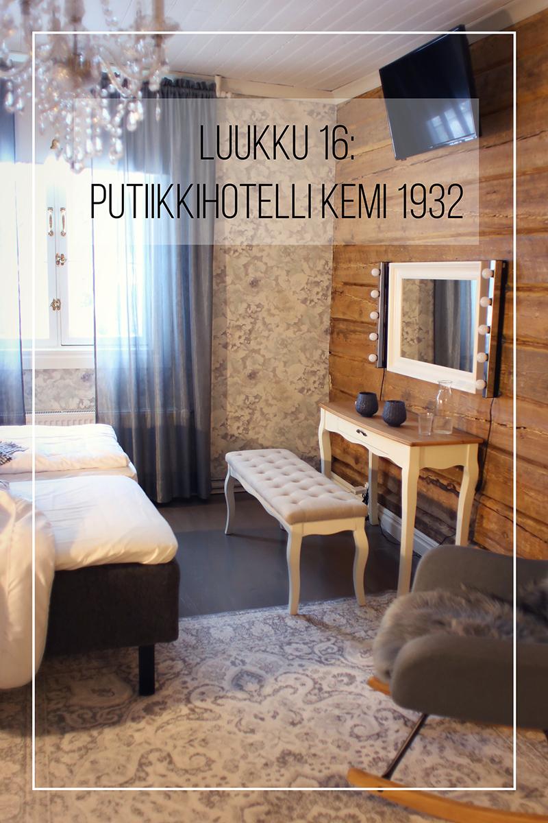 Joulukalenteri 2020, luukku 16: voita yöpyminen suloisessa putiikkihotellissa