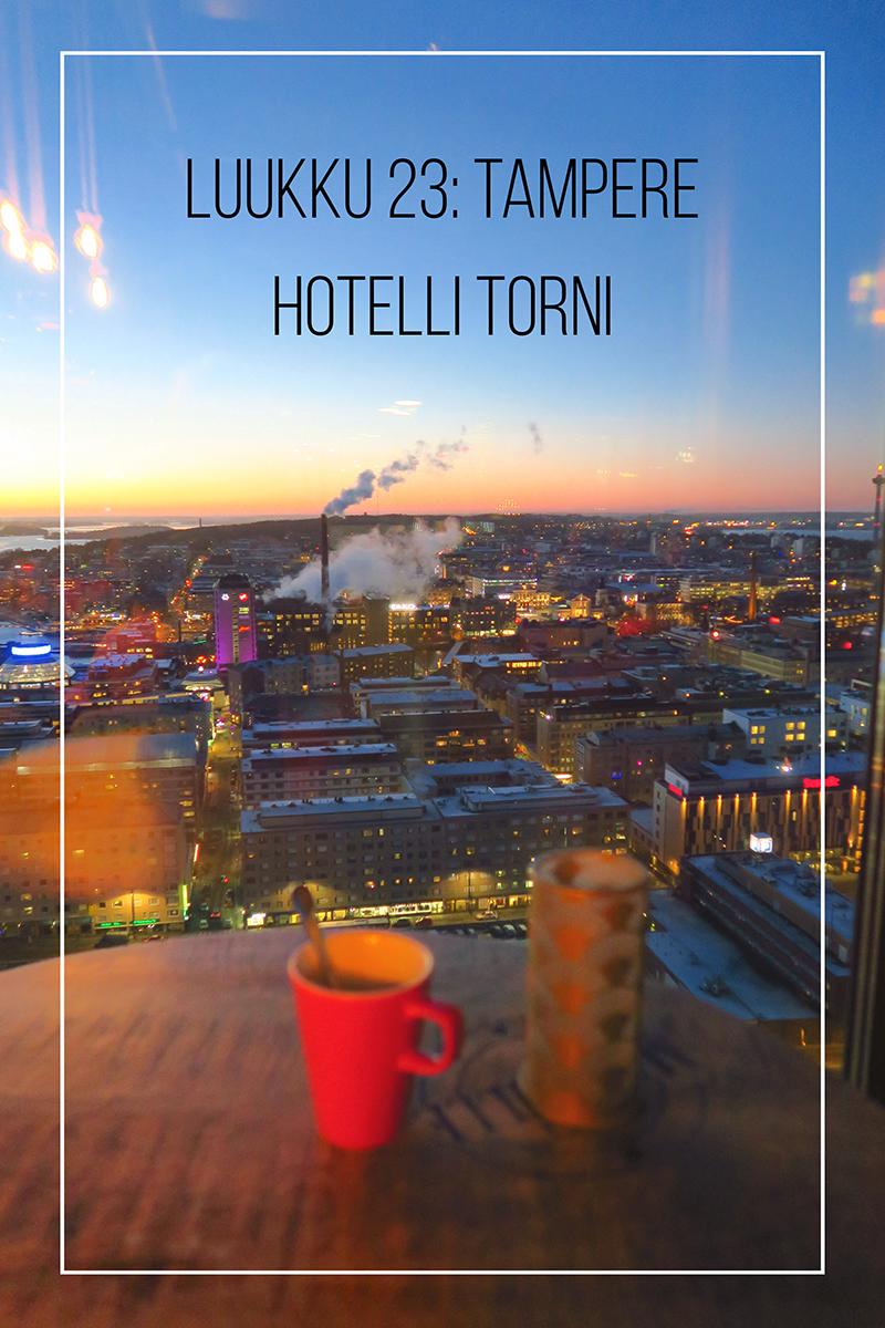 Joulukalenteri 2020, luukku 23: vielä yksi torni ja Tampereen paras näköalabaari