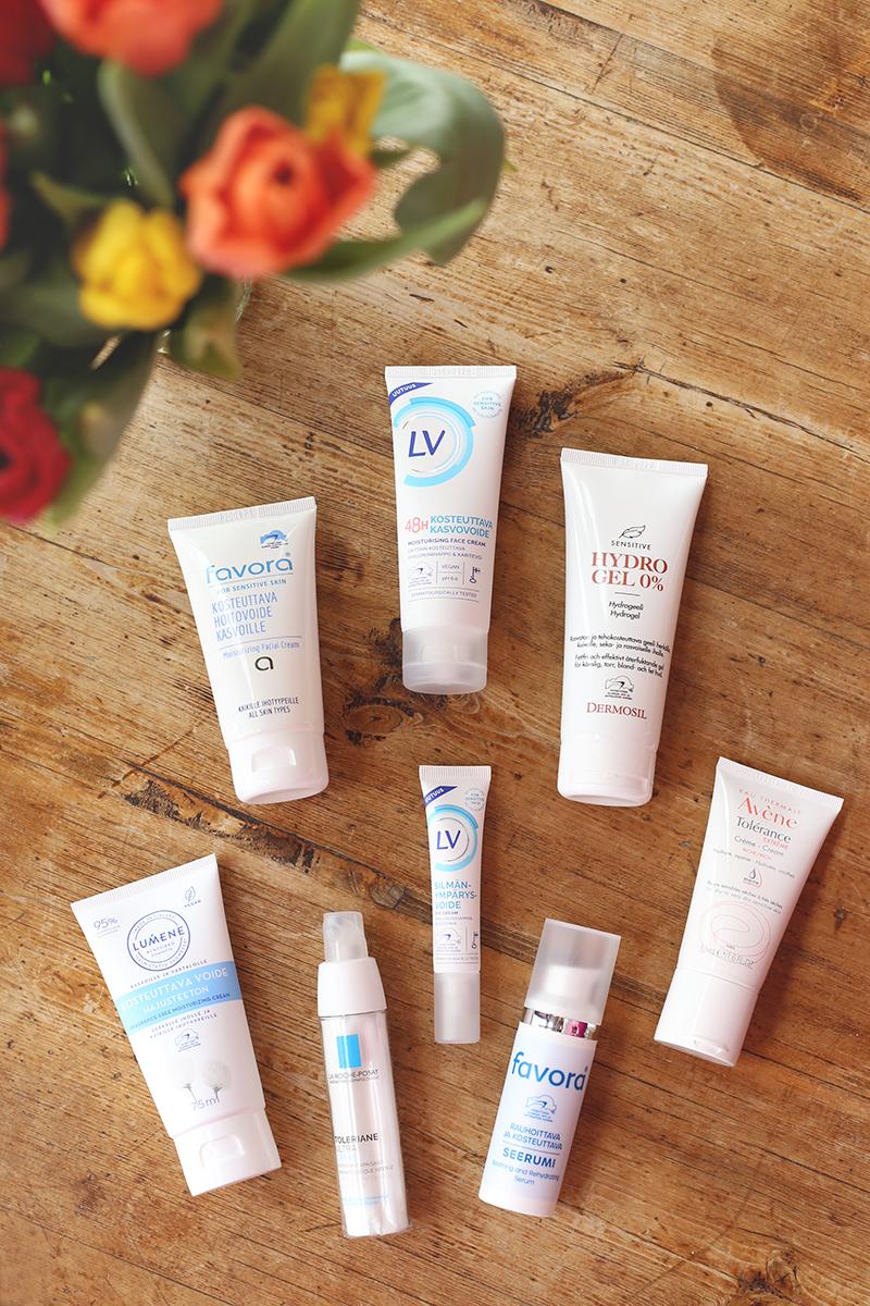 Luupin alla Allergiatunnuksen ihonhoitotuotteita