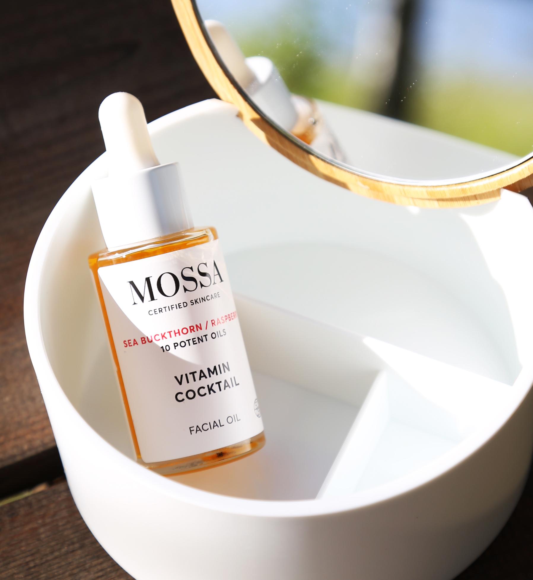 Mossa - edullista ja helppoa luonnonkosmetiikkaa. Mossa Vitamin Cocktail öljy.