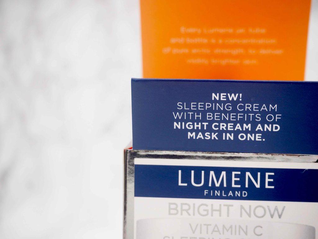 Lumene Bright Now Sleeping Cream