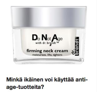 Minkä ikäinen voi käyttää anti-age-tuotteita Ostolakossa