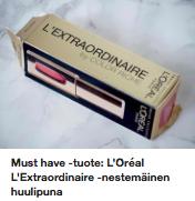loreal-nestemainen-huulipuna