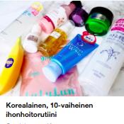 10 vaiheinen ihonhoitorutiini