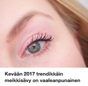 Kevään 2017 trendisävy vaaleanpunainen
