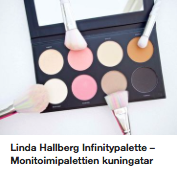 Linda Hallberg LH Cosmetics Infinitypalette kokemuksia