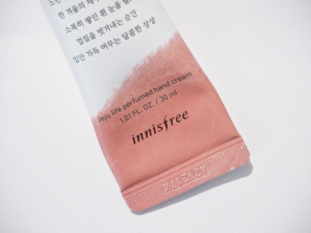 Innisfree Jeju life perfumed hand cream käsivoide Ostolakossa Virve Vee