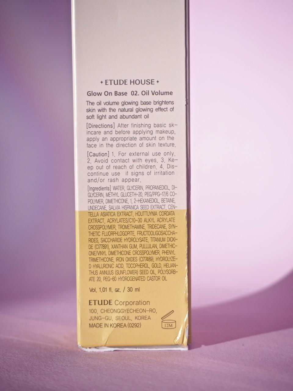 Etude House Volume Oil Base kokemuksia Ostolakossa Virve Vee meikinpohjustaja kuivalle iholle