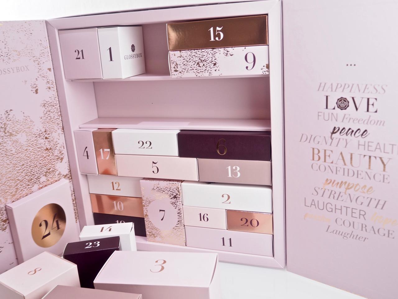 Glossybox Sweden advent calendar joulukalenteri Ostolakossa Virve Vee