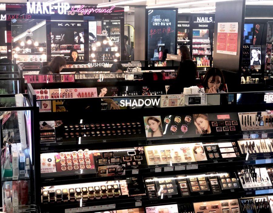 Ostolakossa Etelä-Korea Soul kosmetiikka
