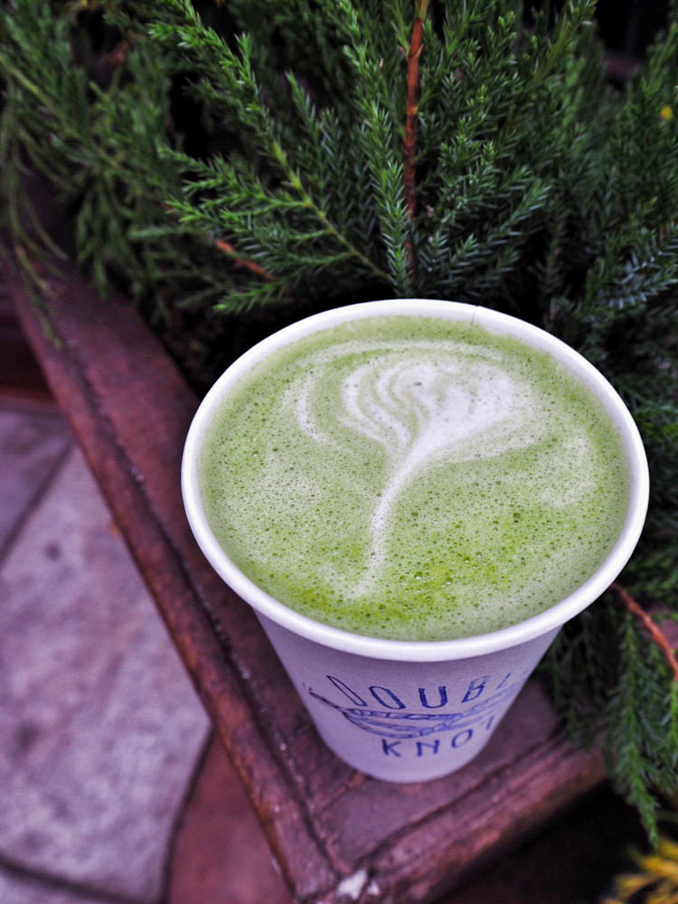 matcha latte double knot