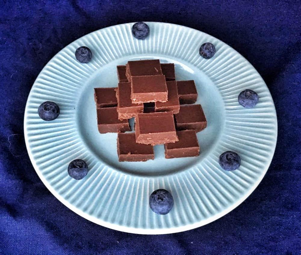 suklaa-maapähkinävoifudge