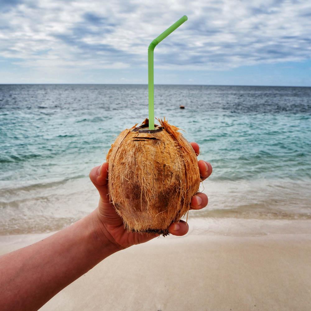 Coco loco - rommilla ja hunajalla täytetty kookospähkinä