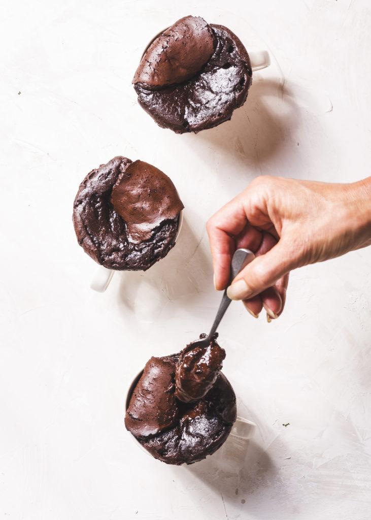 muutaman minuutin suklaa fondant Karita Tykkä