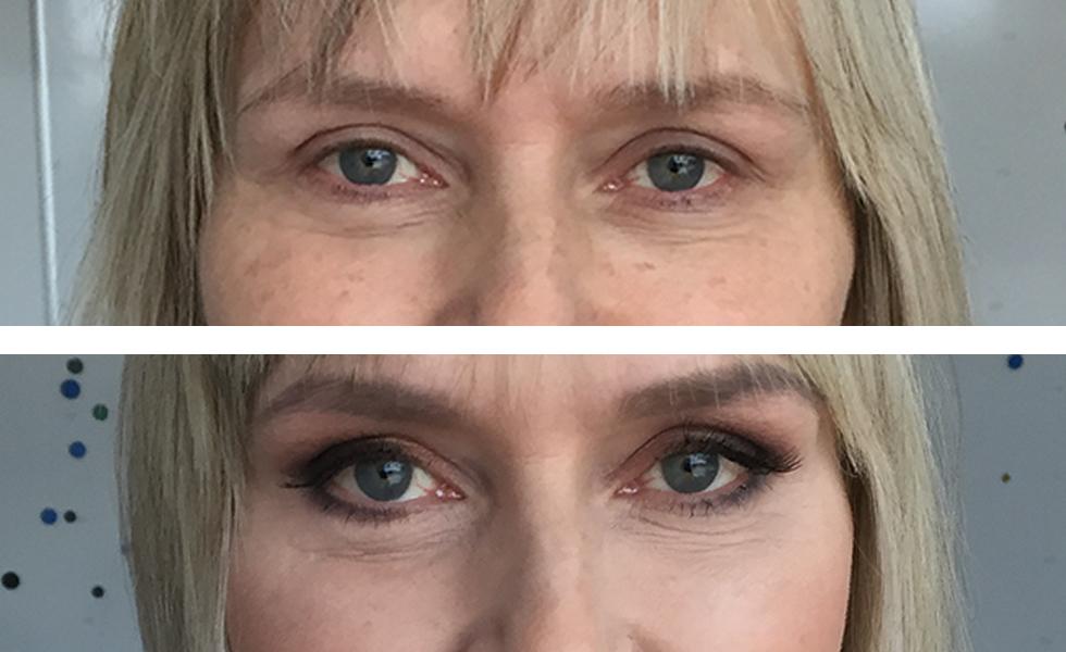 Nuorentava silmämeikki eli meikkimuutos aikuiselle naiselle