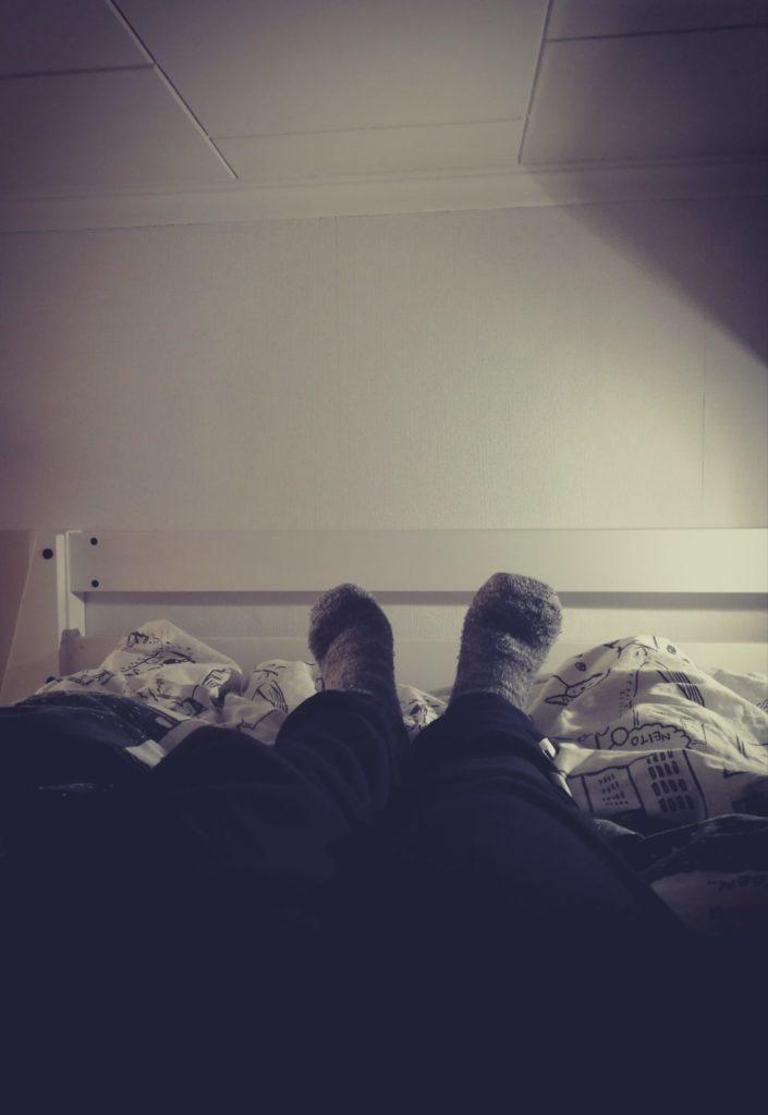Aina välillä ahdistaa mennä nukkumaan.