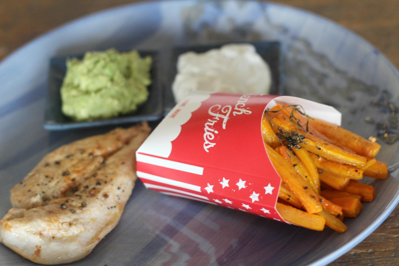 Bataatti- ja porkkanaranskalaiset Aura- ja avokadodipeillä