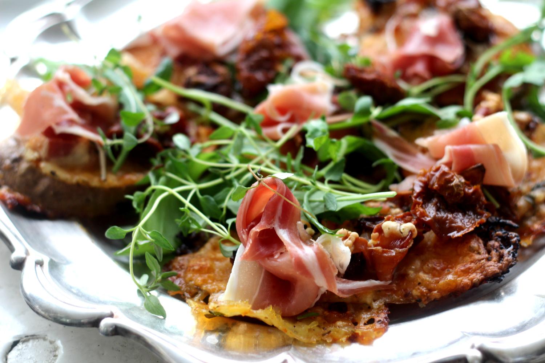 Yhden aineen pizzapohjaohje – Bataattipizzat