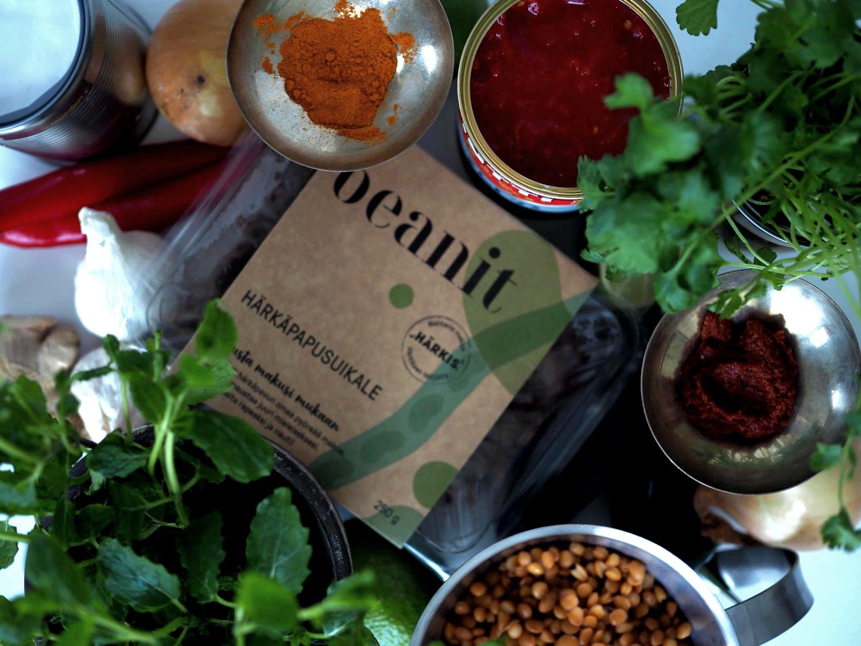 linssikookoscurry Beanitillä